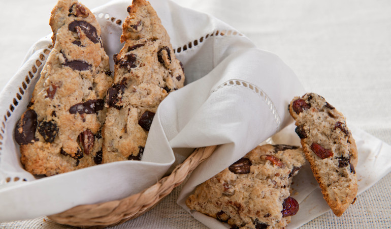 Chocolate Chunk Cherry Cream Scones