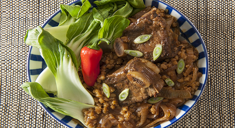 Korean-Style Beef Ribs and Barley