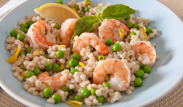 "Shrimp and Pea Barley ""Risotto"""