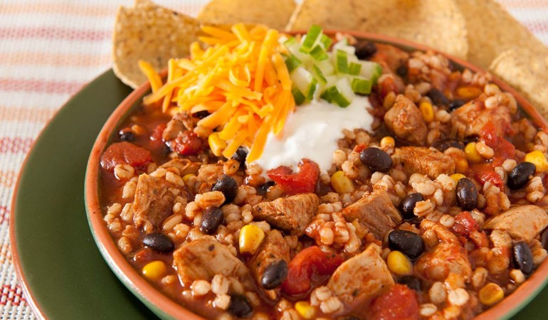 Slow Cooker Chicken Barley Chili