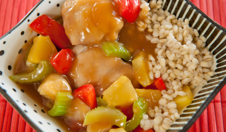 Sweet and Sour Chicken Barley Casserole