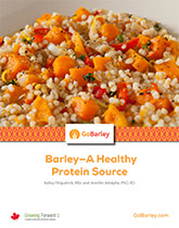 Barley—a Healthy Protein Source