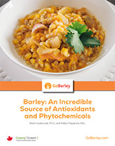 Barley: An Incredible Source of Antioxidants and Phytochemicals