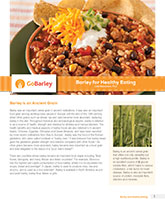 Barley for Healthy Eating